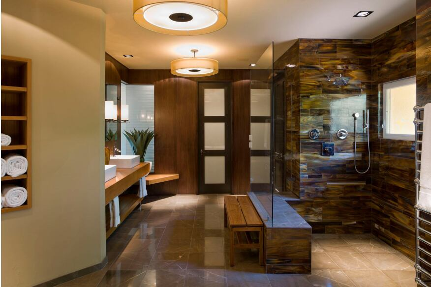 Spa-style bathrooms like those in resort hotels are popular with discerning homeowners.