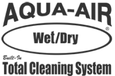 Aqua-Air Wet/Dry Built-in Cleaning System Logo