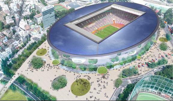 The proposal for the new National Stadium of Japan by Toyo Ito.