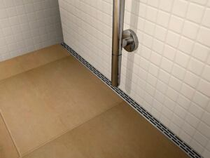 Originally developed in Belgium, this linear drain from Quick Drain USA is almost invisible in the bathroom.