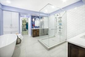 Glass and Tile Bath
