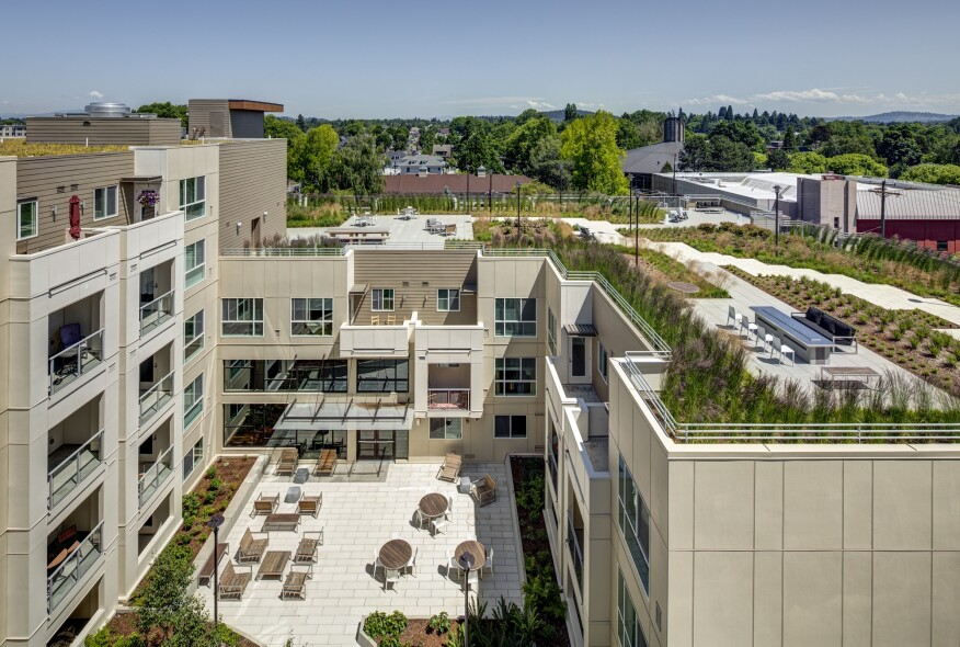 Apartment Building Roof rooftop amenities will keep your property on top | multifamily
