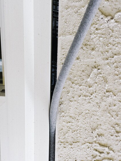 The stucco bead should be installed to provide a gap that can be filled with backer rod.