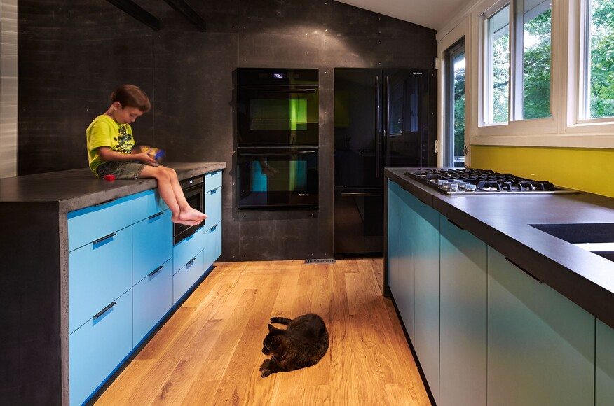 Mid century modern kitchen gets a 21st century update for Modern kitchen updates