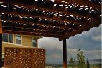 Copper shade panels; end-cut treatment; dock boards; porch planks