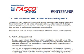 10 Little Known Mistakes to Avoid When Building a Deck