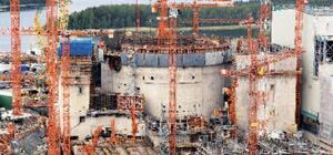 This May 2008 photo of Olkiluoto 3 Nuclear Power Plant in Eurajoki, Finland, shows construction of both the inner containment structure and the outer protective structure. Along with the Flamanville 3 plant in the Normandy, France region, they are the only Generation III+ power plant constructions at present. This is the generation of plant that will be built in the United States.