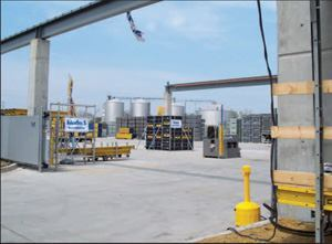 Doka USA's new Channahon, Ill.-based facility features 6-1/2 acres of outdoor concrete-paved storage space.