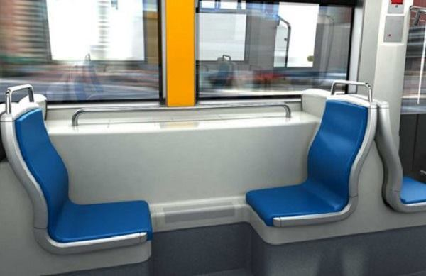 A rendering of the Cincinnati streetcar interior.
