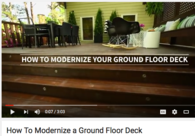 Video: How to Modernize a Ground Level Deck