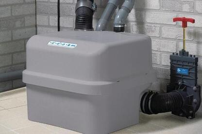 The Sanicubic Classic is a grinder system that reduces solids in the wastewater system.