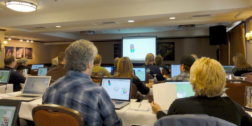 The first day kicked off with a series of intensive workshops for SketchUp users of all levels.