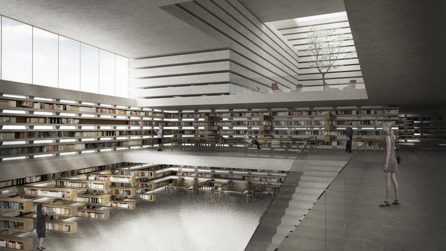 National LibraryinLjubljana, Slovenia,byCristina Parreño Architecturein collaboration with Amin Tadjsoleiman 2012.