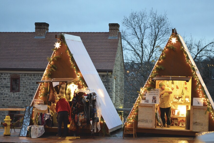 Weihnacht Craft Huts, by Nikolov Architecture and Design