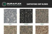 Earthstone vinyl chip blends from Dur-A-Flex