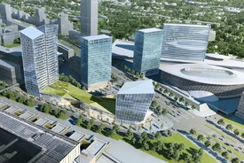 Mixed-Use City Block Porte de L'Europe