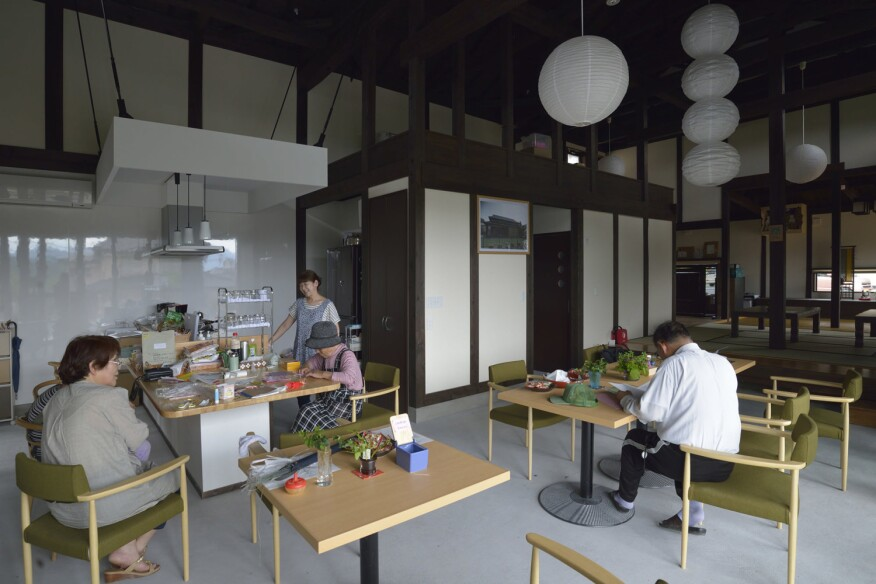Inside the Honeywell Ibasho House, which was constructed for elders in Ofunato, Japan, in the aftermath of the 2011 tsnami and earthquake, for the elders that helped guide younger generations to higher ground and taught them to live with limited resources before receiving help.