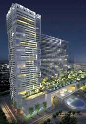 The Related Group plans to build Las Ramblas, a condo-hotel project.Rendering: