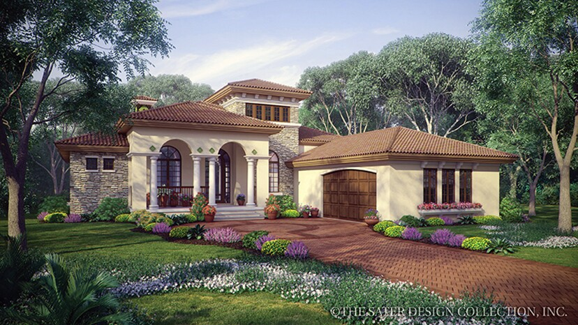 Fourplans modern mediterranean homes from dan sater for Modern home builder magazine