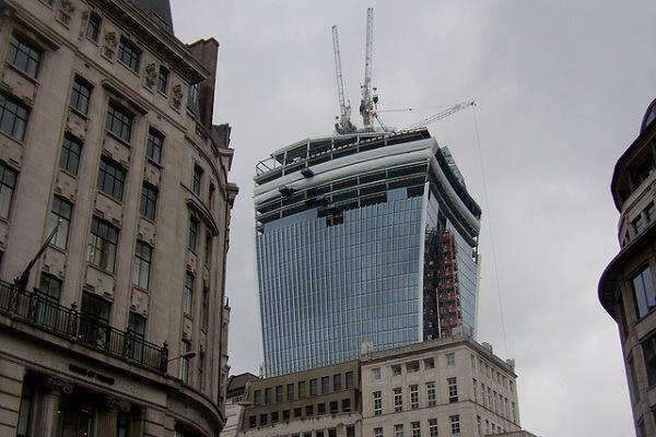 London's so-called Walkie-Talkie Building, designed by Rafael Viñoly Architects.