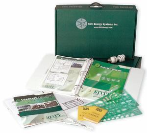 KIT HOME: By packaging a plan book and guide into a boxed set of information, Stitt Energy  Systems is able to educate prospective buyers.
