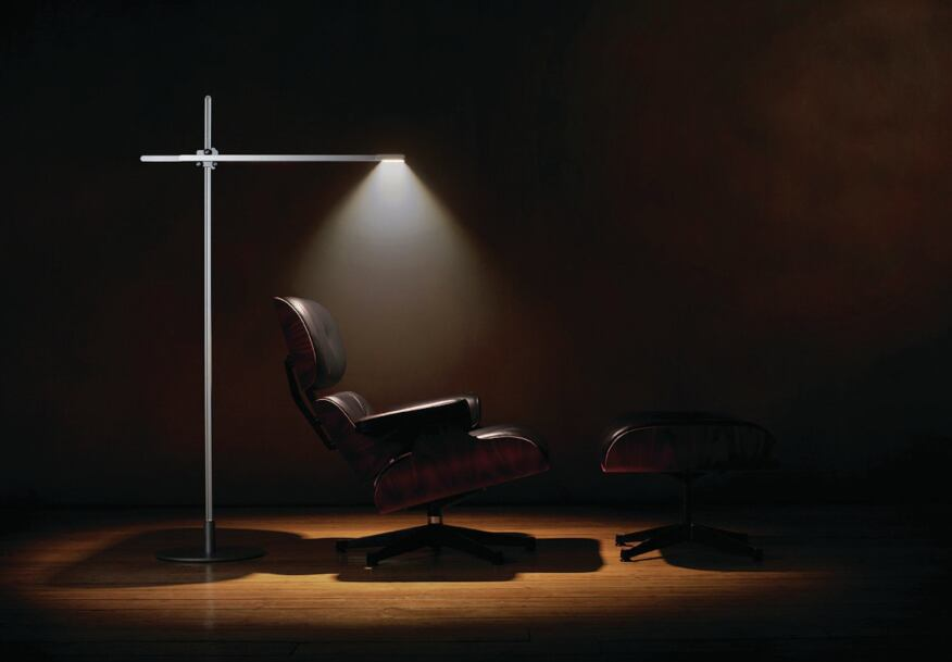 The CSYS Tall luminaire (shown). This luminaire family features a heat-pipe cooling technology for LEDs typically found in computers. Incorporating this technology into the luminaire enabled a drastic reduction in heat gain and longer lamp life.
