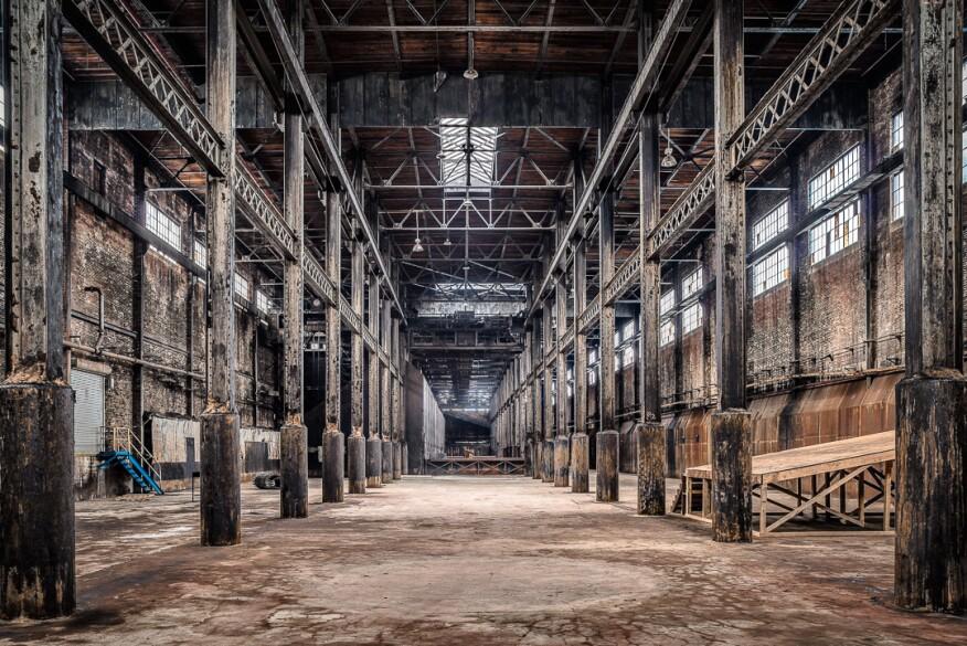 Raw sugar warehouse.