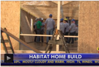 Habitat Volunteers Building Home in 2 Weeks