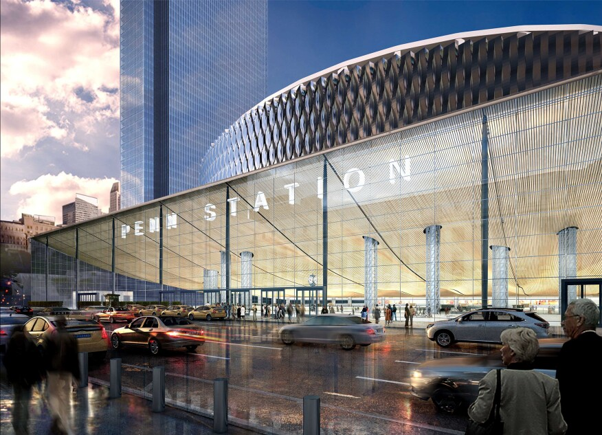 View of redeveloped Penn Station from 8th Avenue