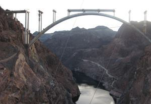 The Colorado River Bridge arch was closed in August 2009; the deck is scheduled to be complete in May.