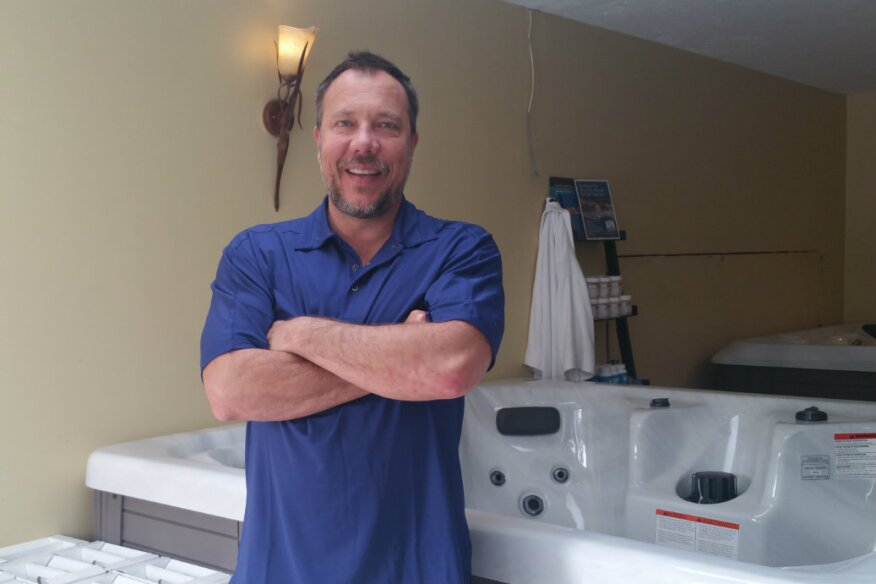 Chris Wheatley, owner of Hot Tub Universe in Fall River, Nova Scotia