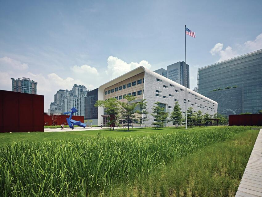 """The consulate building is representative of a quality that we want to continue to see in foreign projects, where our soft culture can be embraced,"""" juror Sheila Kennedy said."""