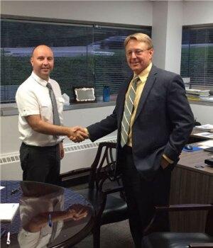 Aitor Fabian (ULMA FORM WORK CEO) & Dan Payne (SOCON CEO)
