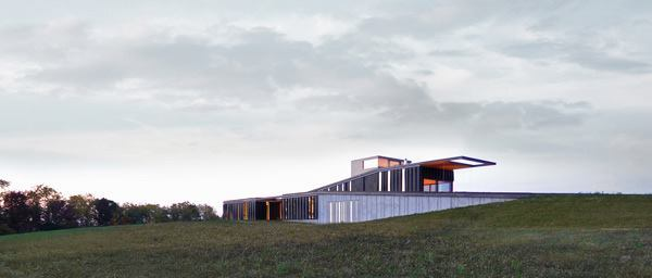 Topo House, designed by Johnsen Schmaling Architects.