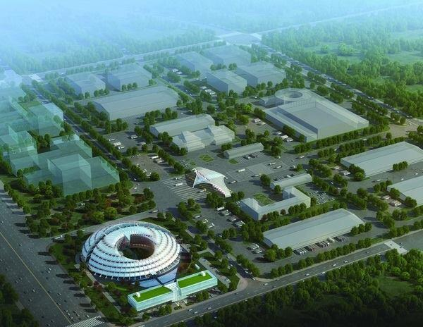 Michael Sorkin Studio's 2012 concept for Xi'an Airport Office Building in Xi'an, China.