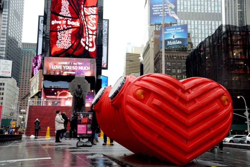 Times Square Valentine Heart Closes This Weekend