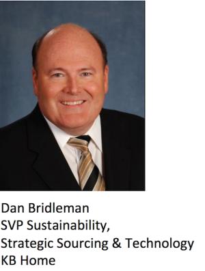Dan Bridleman, SVP Sustainability, Strategic Sourcing, & Technology at KB Home