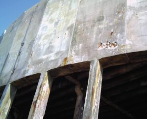 The Anclote Power Plant cooling towers, although structurally sound, had a lot of concrete spalling and corrosion that cost the company millions of dollars per year.