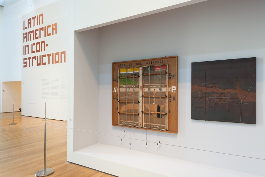 Installation view of Latin America in Construction: Architecture 1955-1980 at The Museum of Modern Art, New York (March 29-July 19, 2015).