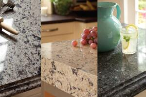 Pressure & Time  After nature does its part, mined quartz is crushed and mixed with resin to create subtly patterned slabs.