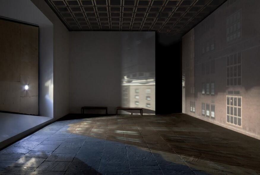 Zoe Leonard's installation from the Whitney Biennial, in which the artist transformed a section of the museum's fourth-floor gallery into a camera obscura.
