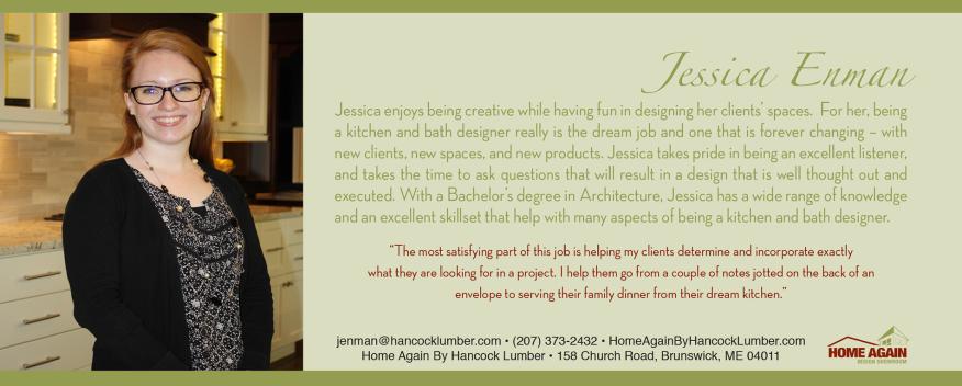 Bio card for a designer at Hancock Lumber