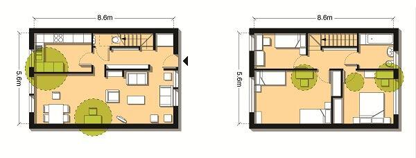 Use created when a 904-square-foot three-bedroom flat is increased to 1,055 square feet.