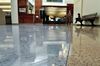 Polished Concrete Installed in Library