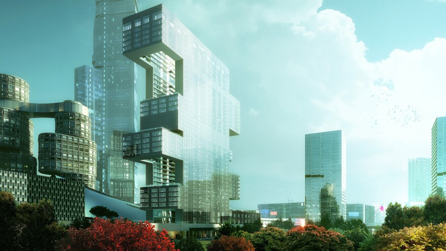 Project R6 as it will appear in the Yongsan International Business District.