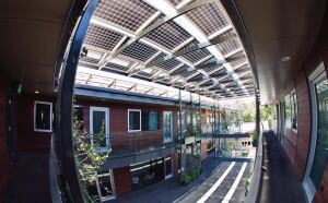 GREEN MACHINE: With its elaborate solar-panel system, downtown Austin's 904 West boasts energy savings equivalent to planting almost 2,600 trees, or removing 17 cars from the road, according to local utility company Austin Energy.