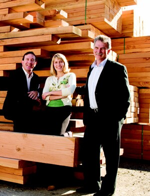 For Golden State Lumber, service and accountability start at the top with a leadership triumvirate that includes (left to right) president Rick Zaslove, vice president Jessica Nobmann, and CFO Bob Bowler.