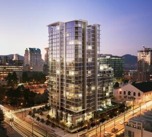 The 250-unit Cosmo high rise in Vancouver, the first to include 20% of its parking outfitted for electric cars, is scheduled for completion in Fall 2011.