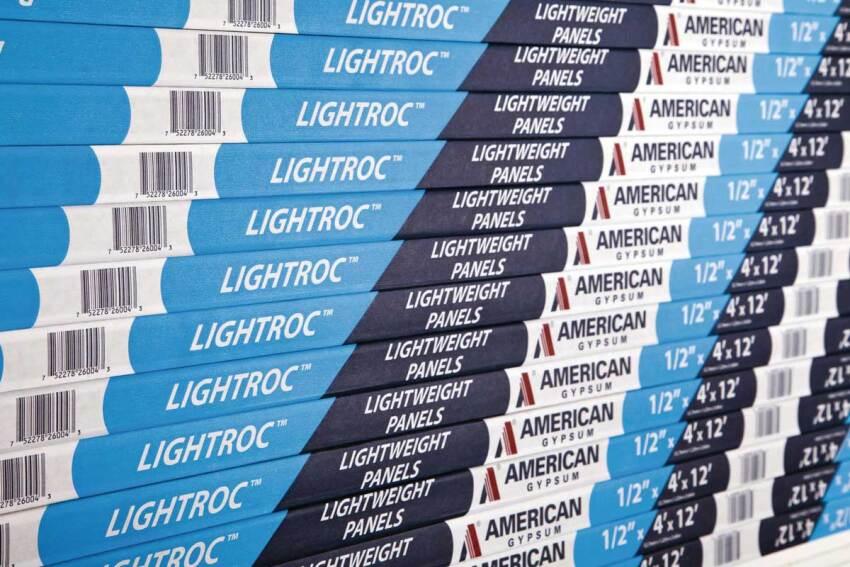Core Competence: American Gypsum LightRoc Lightweight Gypsum Wallboard