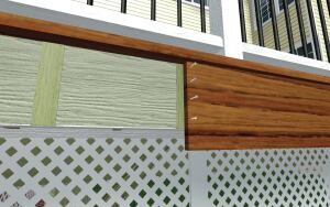 Shimming the fascia away from the framing, as shown in the illustration, will allow water to drain away from the assembly and permit differential movement between the trim and the substrate.